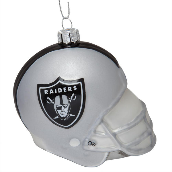 Oakland Raiders - Glass Helmet Ornament