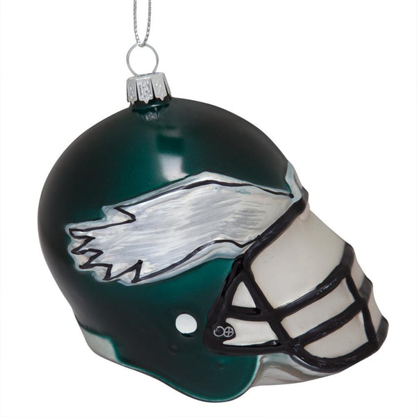 Philadelphia Eagles - Glass Helmet Ornament