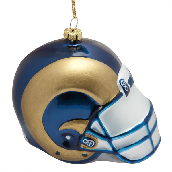 St. Louis Rams - Glass Helmet Ornament