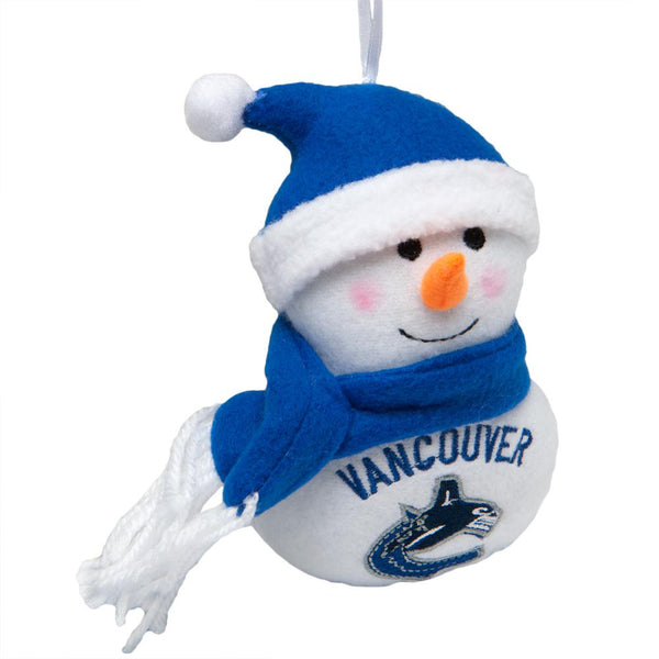 Vancouver Canucks - Plush Snowman Ornament