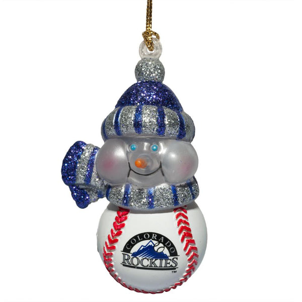 Colorado Rockies - Logo All-Star Light-Up Snowman Ornament