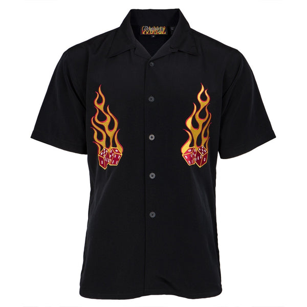 Flaming Dice Club Shirt