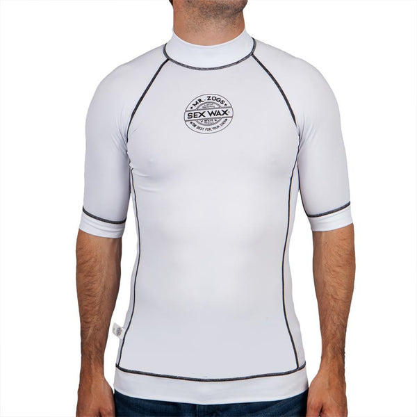 Mr. Zogs Sexwax - Logo White Rash Guard T-Shirt