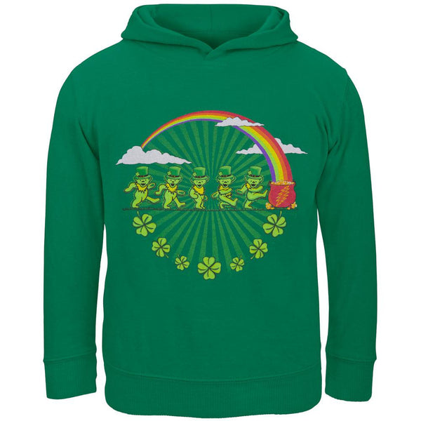 Grateful Dead - Leprechaun Bears Kelly Green Toddler Hoodie