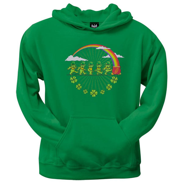 Grateful Dead - Leprechaun Bears Kelly Green Pullover Hoodie