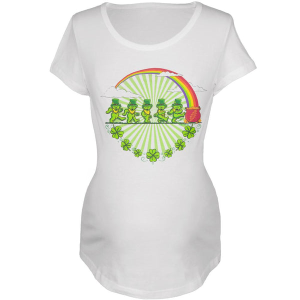 Grateful Dead - Leprechaun Bears White Maternity T-Shirt