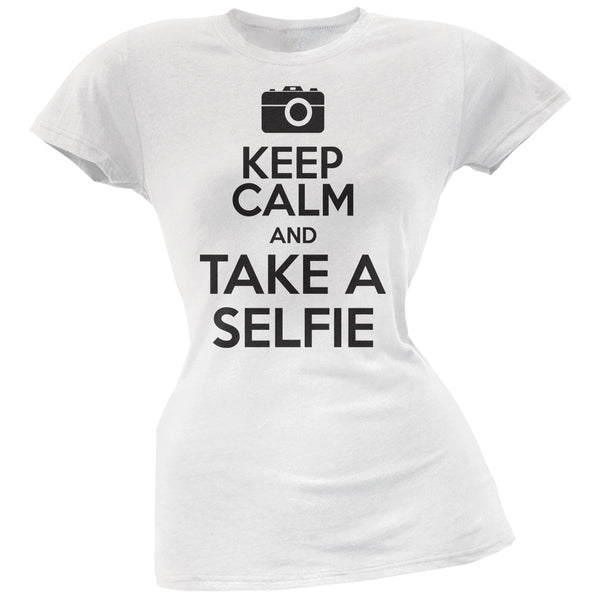 Keep Calm and Take a selfie Juniors T-Shirt