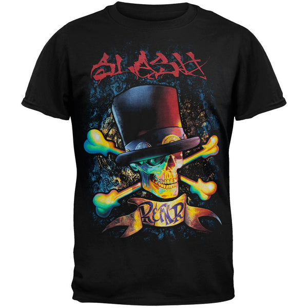 Slash - Red Letters Top Hat Crossbones T-Shirt