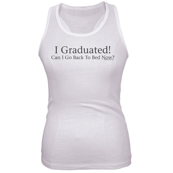 I Graduated! Black Juniors Soft Tank Top