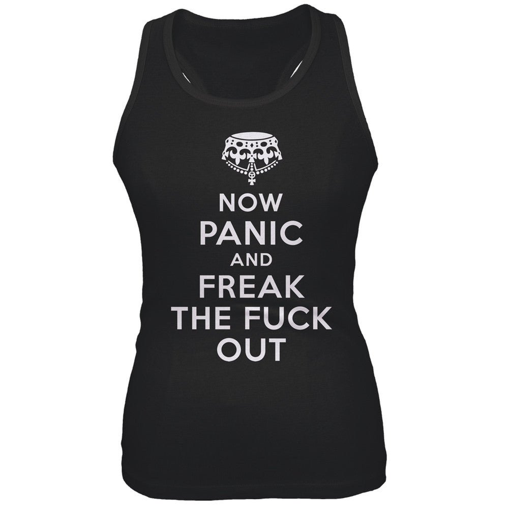 Now Panic and Freak the Fuck Out Juniors Tank Top