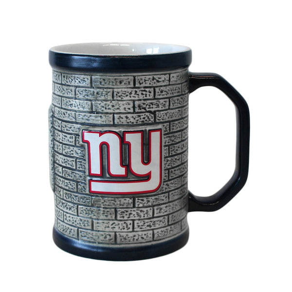New York Giants - Logo 15 oz Sculpted Stone Wall Mug