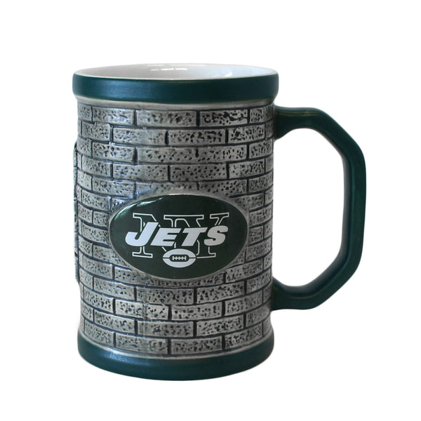 New York Jets - Logo 15 oz Sculpted Stone Wall Mug