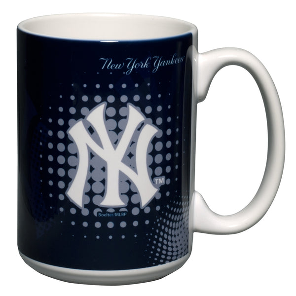 New York Yankees - Logo 15 oz Halftone Mug