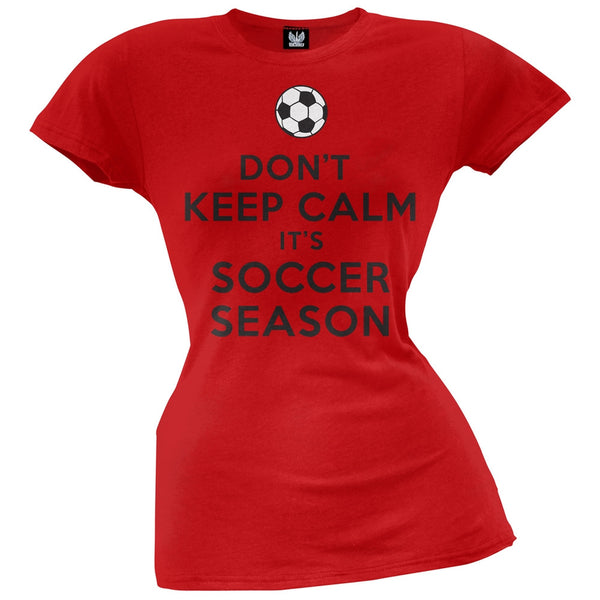 Don't Keep Calm it's Soccer Season Juniors T-shirt