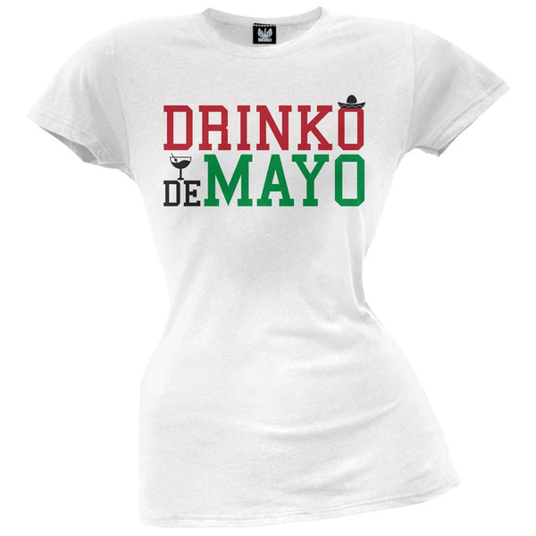 Cinco De Mayo - Drinko de Mayo Juniors T-Shirt