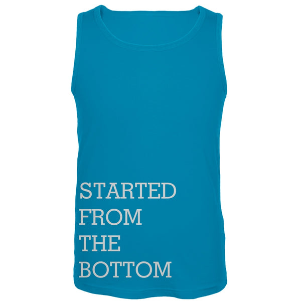 Started From the Bottom Blue Tank Top