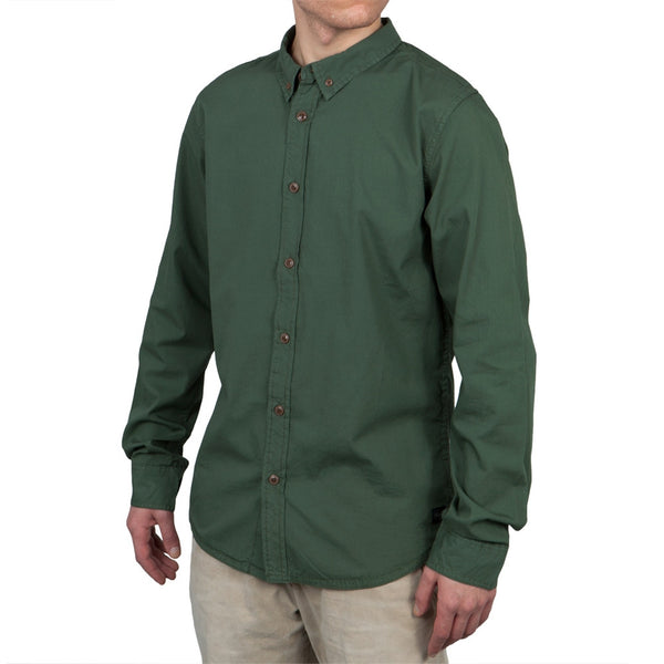 O'Neill - Pacifica Army Green Long Sleeve Button-Up Shirt