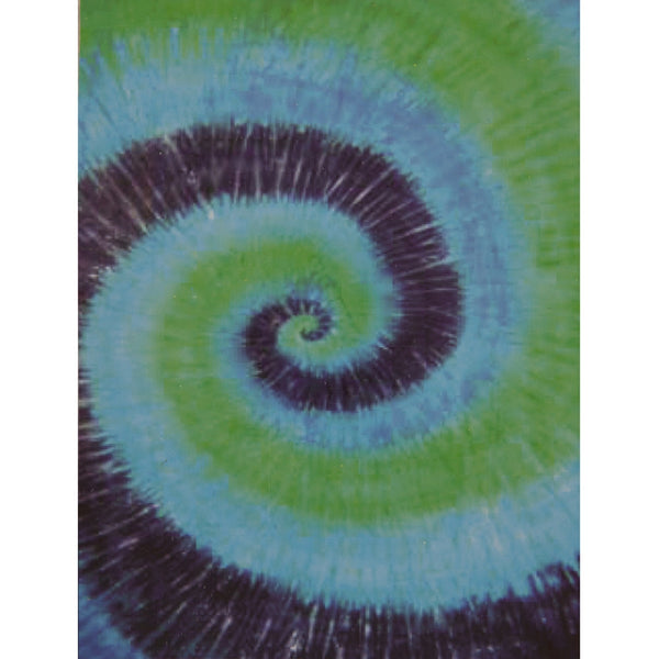 Green and Blue Swirl Tie Dye Single Tapestry