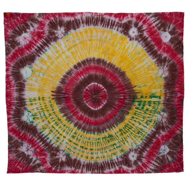 Multi-Color Circle Tie Dye Full Tapestry