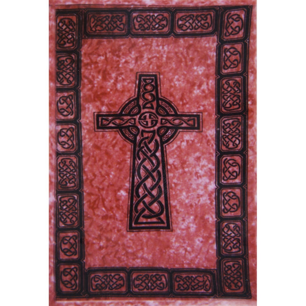 Celtic Cross Red Full Tapestry