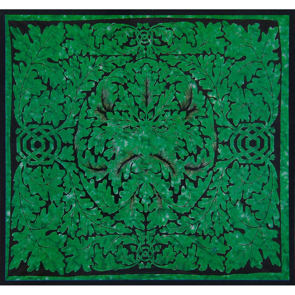 Celtic Knot Pagan Deity Green Man Emerald Single Tapestry