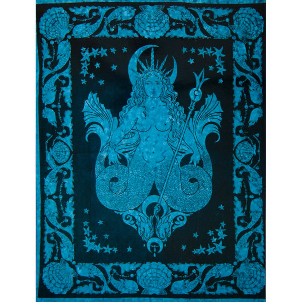 Sea Queen Blue Full Tapestry