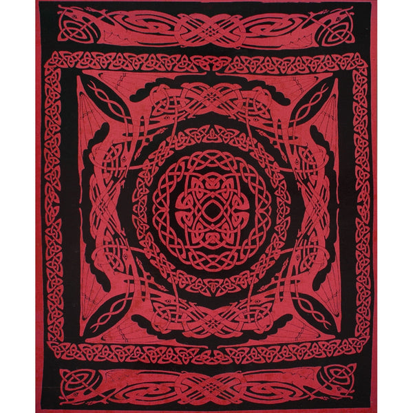 Celtic Dragon Knot Scarlet Single Tapestry