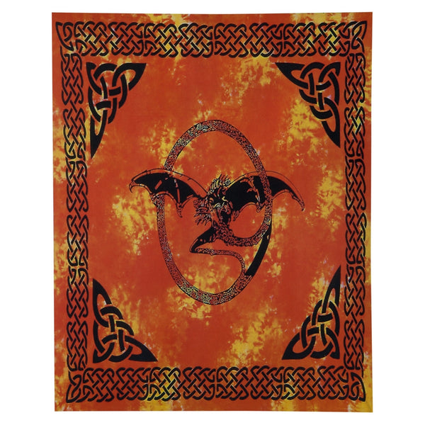 Bone Dragon Orange Single Tapestry