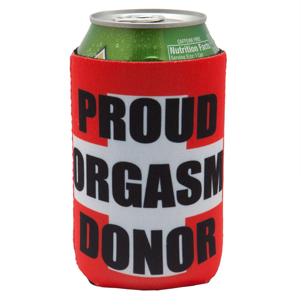 Proud Orgasm Donor Can Cooler
