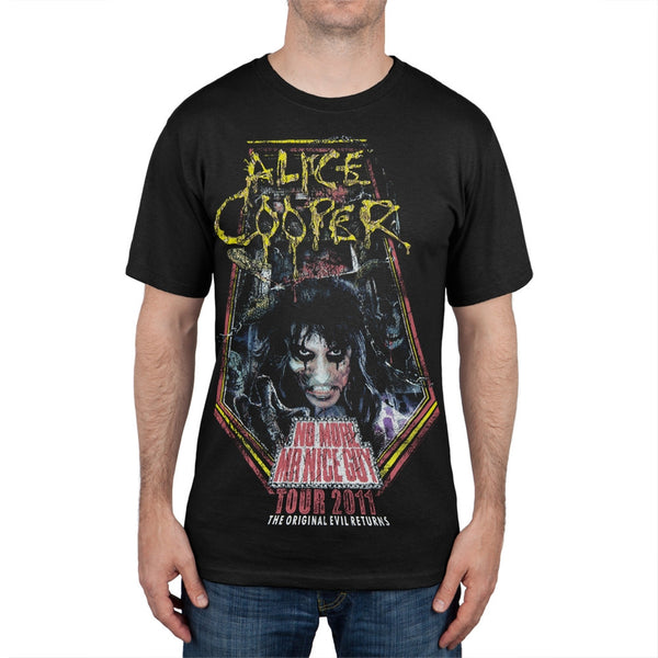 Alice Cooper - No More Mr. Nice Guy 2011 Tour Black T-Shirt