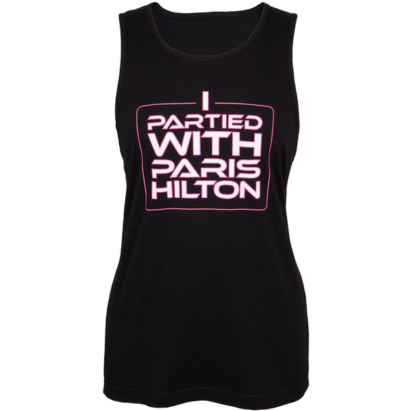 Paris Hilton - I Partied With Paris Juniors Tank Top