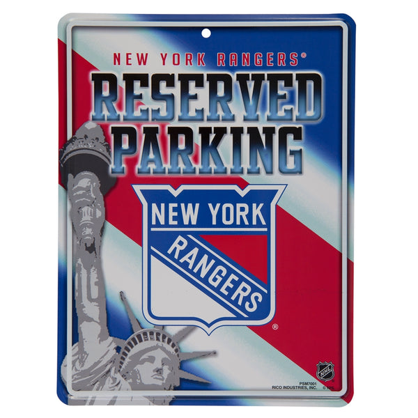 New York Rangers - Reserved Parking Metal Sign