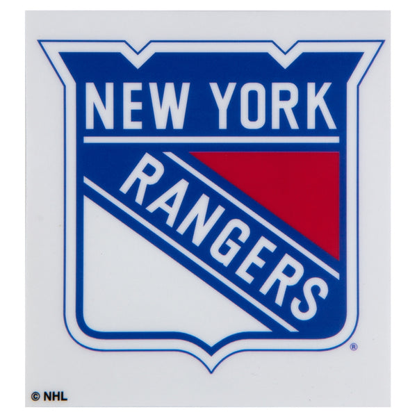 "New York Rangers - Logo Die-Cut Cling-On Decal 3.5"" x 3.5"""