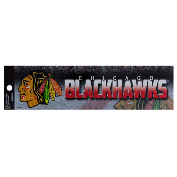 Chicago Blackhawks - Bling Logo Bumper Sticker