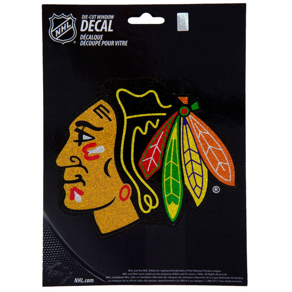 Chicago Blackhawks - Bling Logo Medium Die-Cut Decal