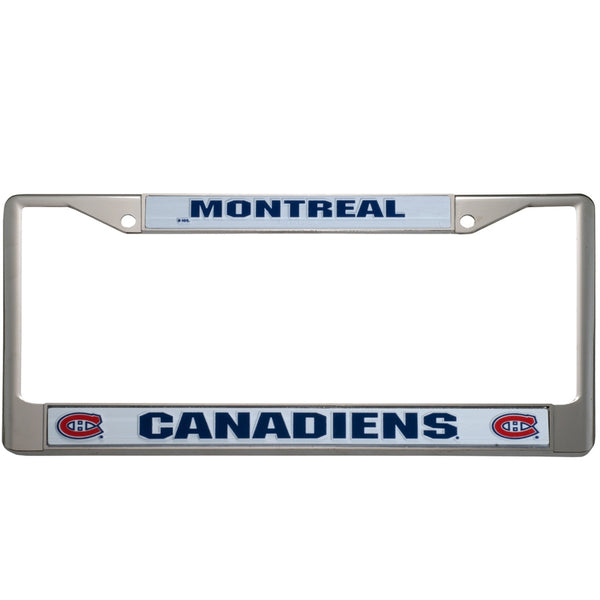 Montreal Canadiens - Letter Logo Chrome Plastic License Plate Frame