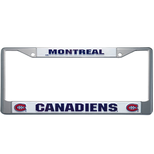 Montreal Canadiens - Letter Logo Laser Chrome Plastic License Plate Frame