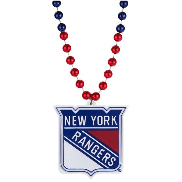 New York Rangers - Logo Medallion Sports Beads Necklace