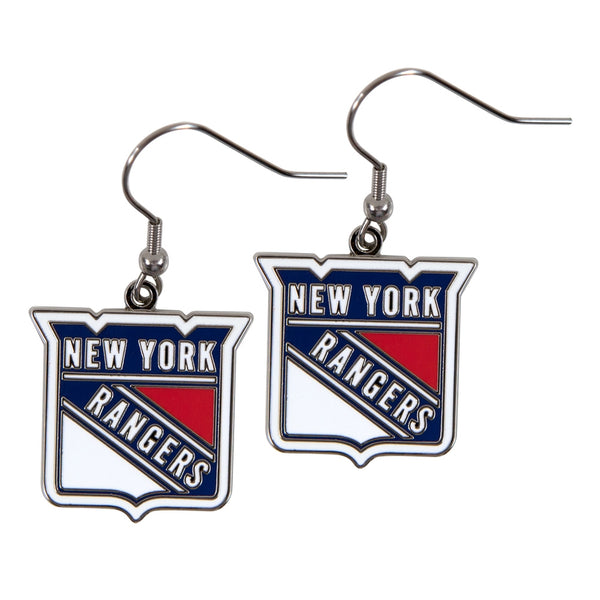 New York Rangers - Logo Dangle Earrings