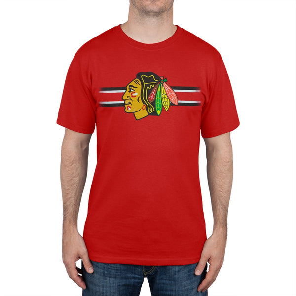 Chicago Blackhawks - Bar Stripe Logo T-Shirt