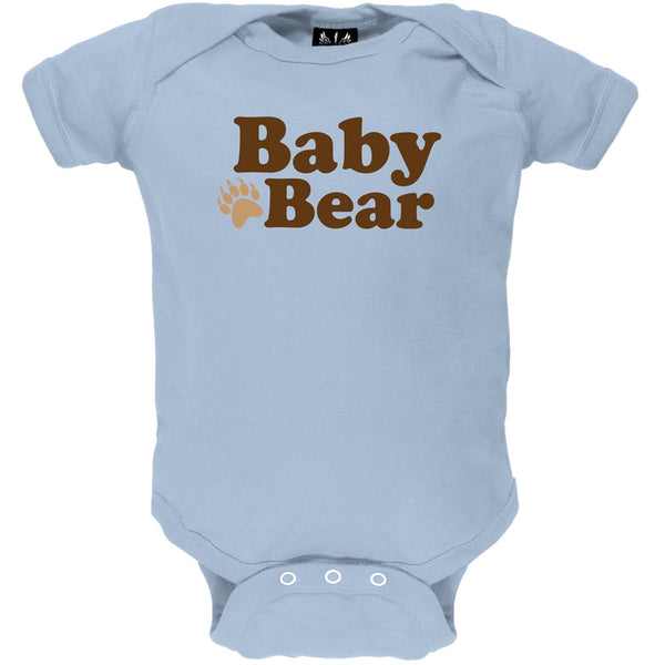 Father's Day - Baby Bear Light Blue Baby One Piece