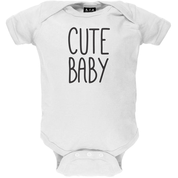 Father's Day - Cute Baby White Baby One Piece