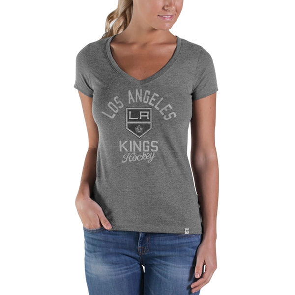 Los Angeles Kings - Hockey Lock Sophomore Juniors Premium V-Neck T-Shirt