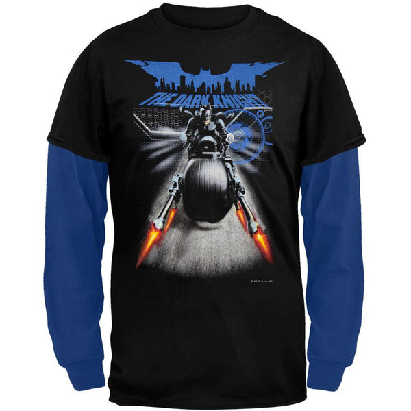 Batman - Shooting Cycle Youth 2fer Long Sleeve T-Shirt