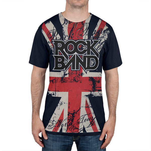 Rock Band - Union Jack All-Over T-Shirt
