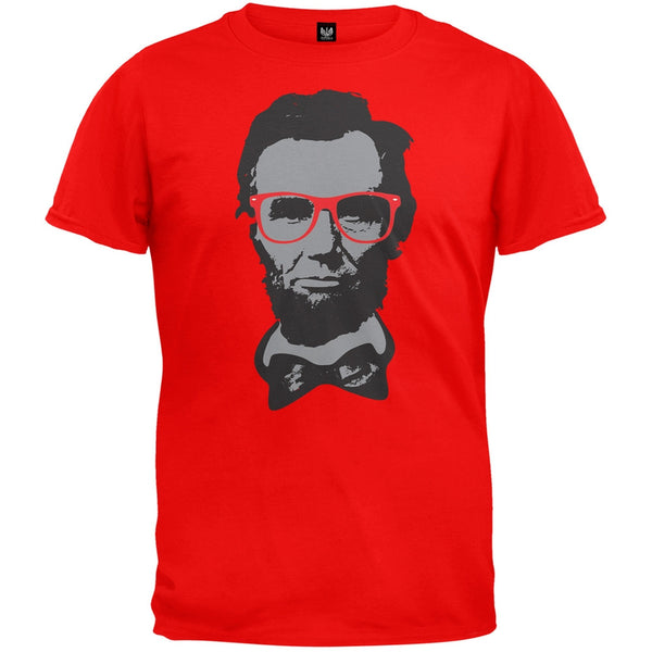 Abraham Lincoln Hipster Geek Glasses T-Shirt