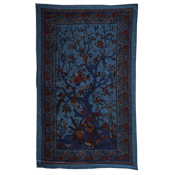 Tree Of Life Blue Psychedelic Tapestry