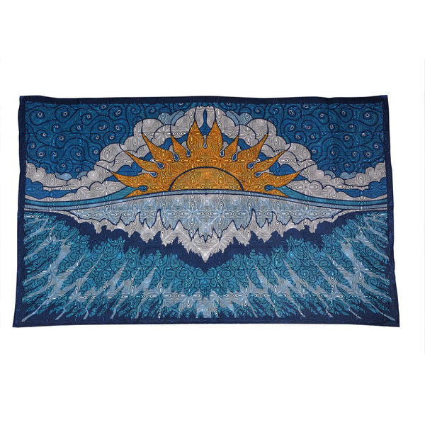 Sun Wave Psychedelic Tapestry