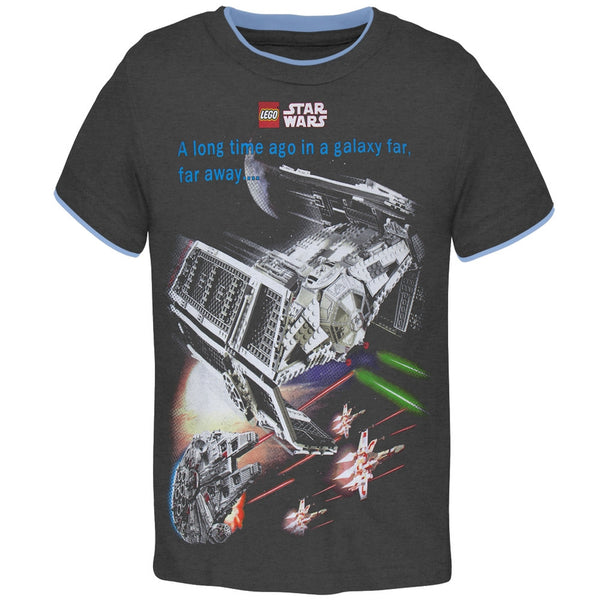 Lego Star Wars - In a Galaxy Far Away Battle Dark Grey Youth T-Shirt
