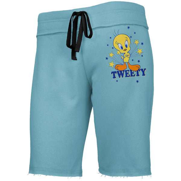 Looney Tunes - Tweety Stars Blue Juniors Drawstring Shorts